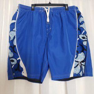 Speedo Men's Swim Trunks Board Shorts Side Pockets
